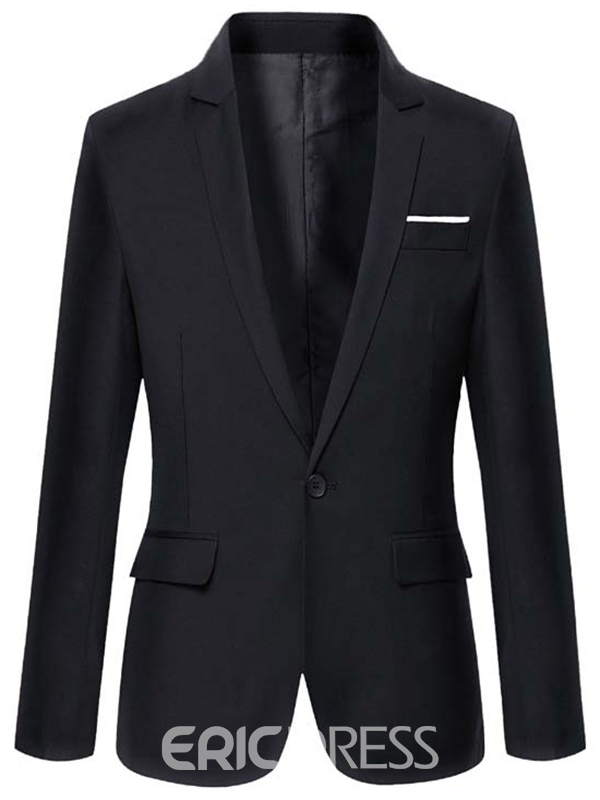 Ericdress Plain Vogue One Button Slim Men's Blazer