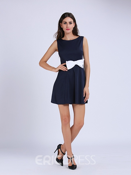 Ericdress Bowknot Hollow Sexy & Clubwear Dress