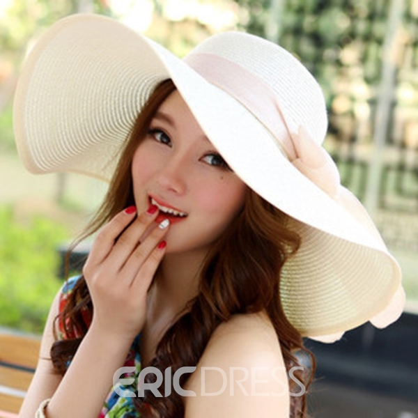 Ericdress Foldable Crocheted Straw Sun Hat