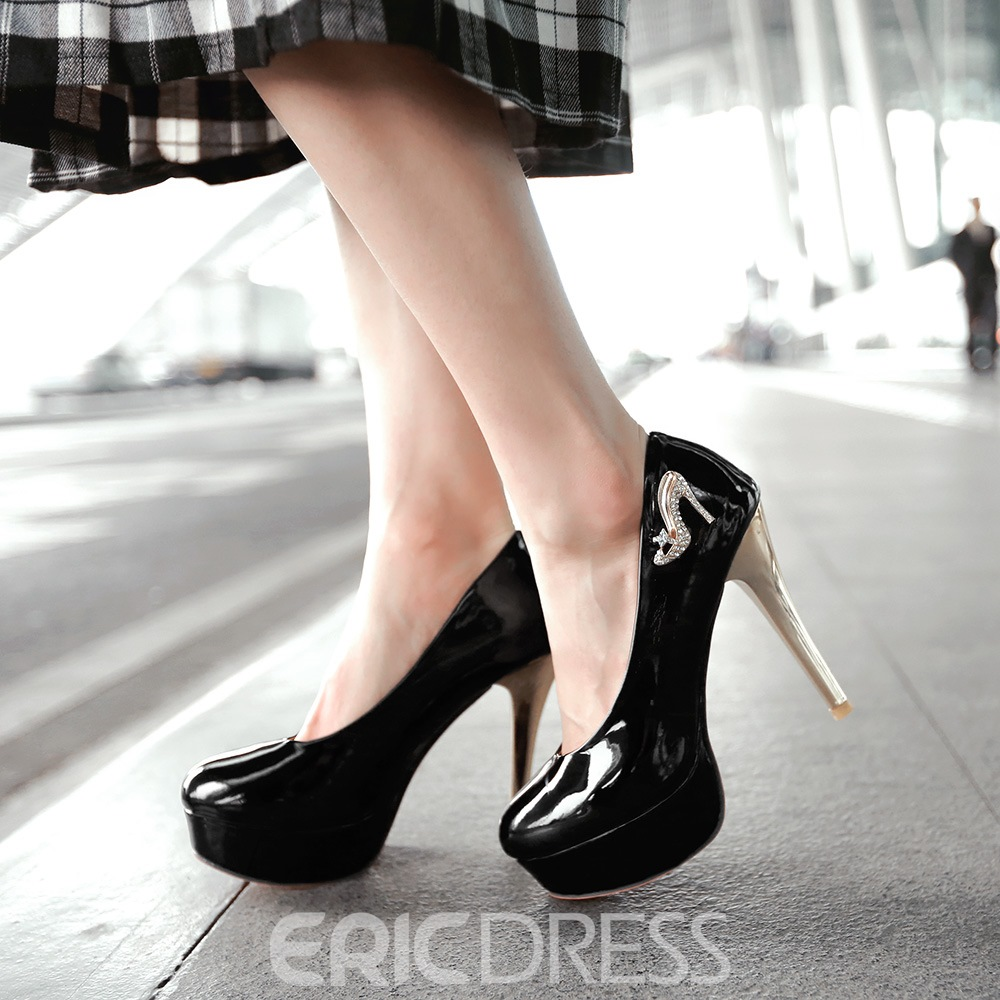 Ericdress Delicate PU Round Toe Pumps
