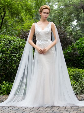Ericdress Charming V Neck Sheath Wedding Dress