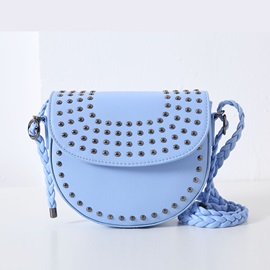 Ericdress Simple Rivets Knitted Patchwork Crossbody Bag