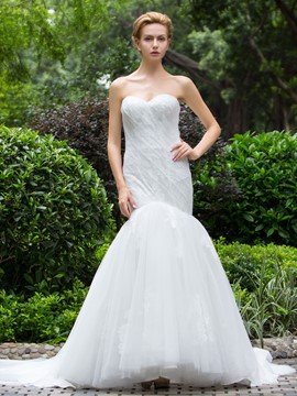 Ericdress Chic Sweetheart Mermaid Wedding Dress