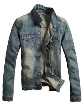 Ericdress Denim Slim Casual chaqueta de