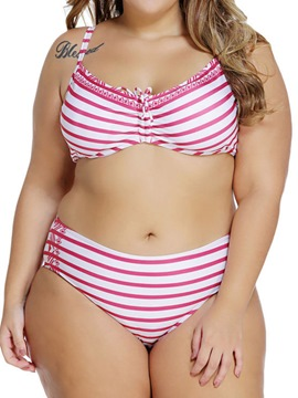 Ericdress Vintage Stripe Plus Size Swimwear
