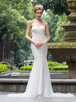 Ericdress Amazing Sweetheart Lace Mermaid Wedding Dress
