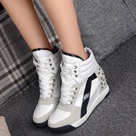 Eridress Fashionable Rivet Platform High-Cut Women's Sneakers