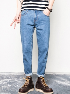 Ericdress Plain Casual Men's Jeans