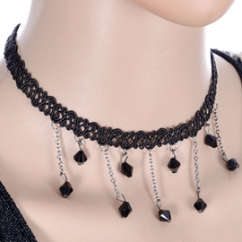 Ericdress Tassels Decorated Lace Necklace