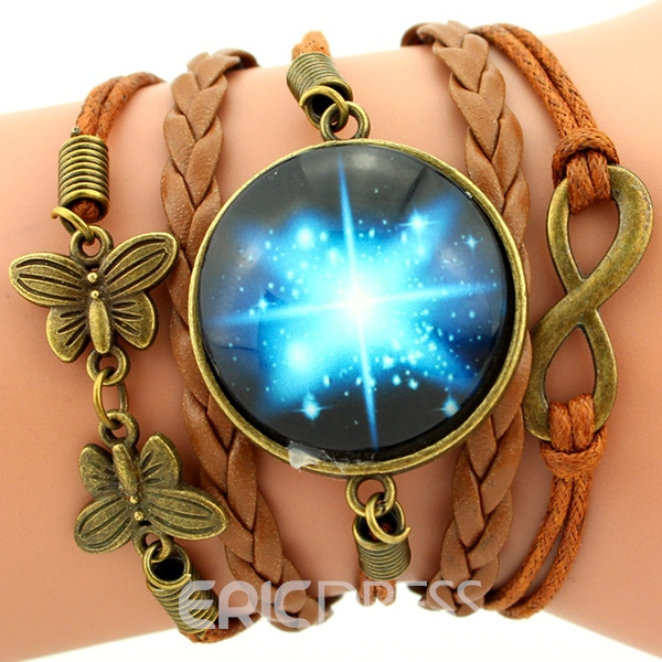 Ericdress Multilayer Starry Sky Gemstone Bracelet