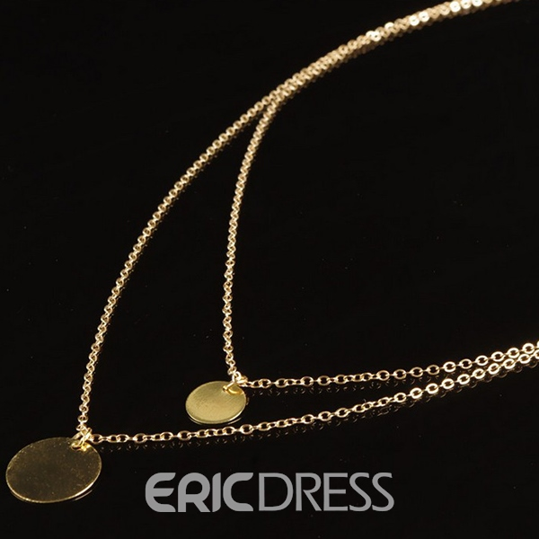 Ericdress Multilayer Sequins Pendant Necklace
