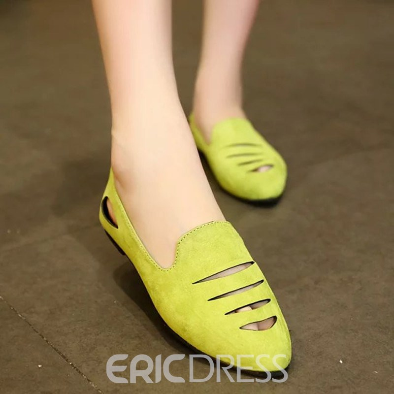 Ericdress Lovely Suede Point Toe Flats
