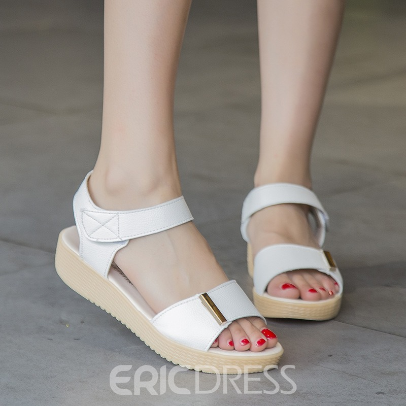 Ericdress Delicate Open Toe Flat Sandals