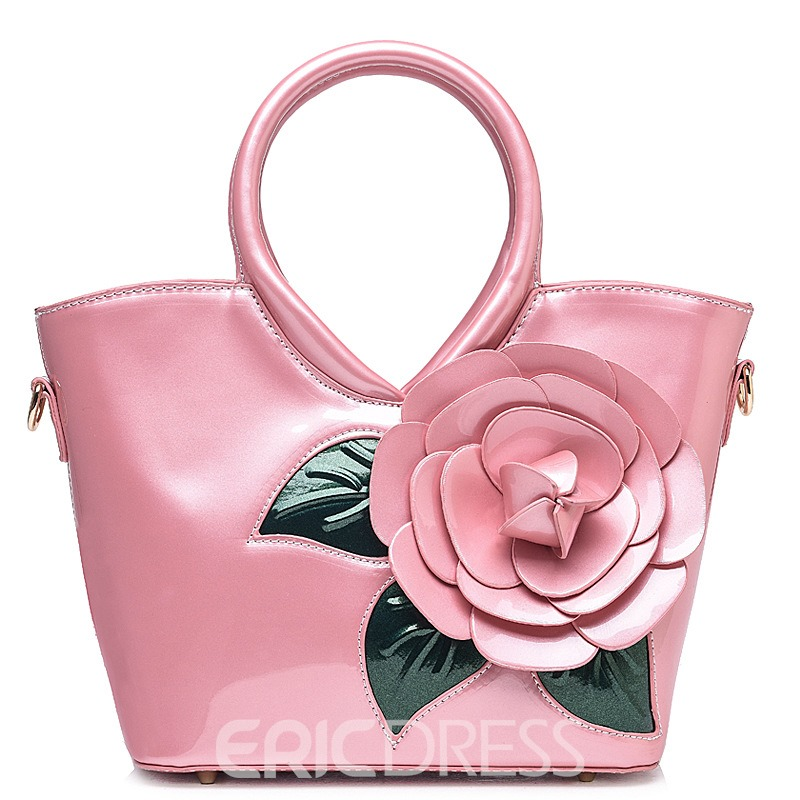 Ericdress Ladylike Vivid Flower Decorated Handbag