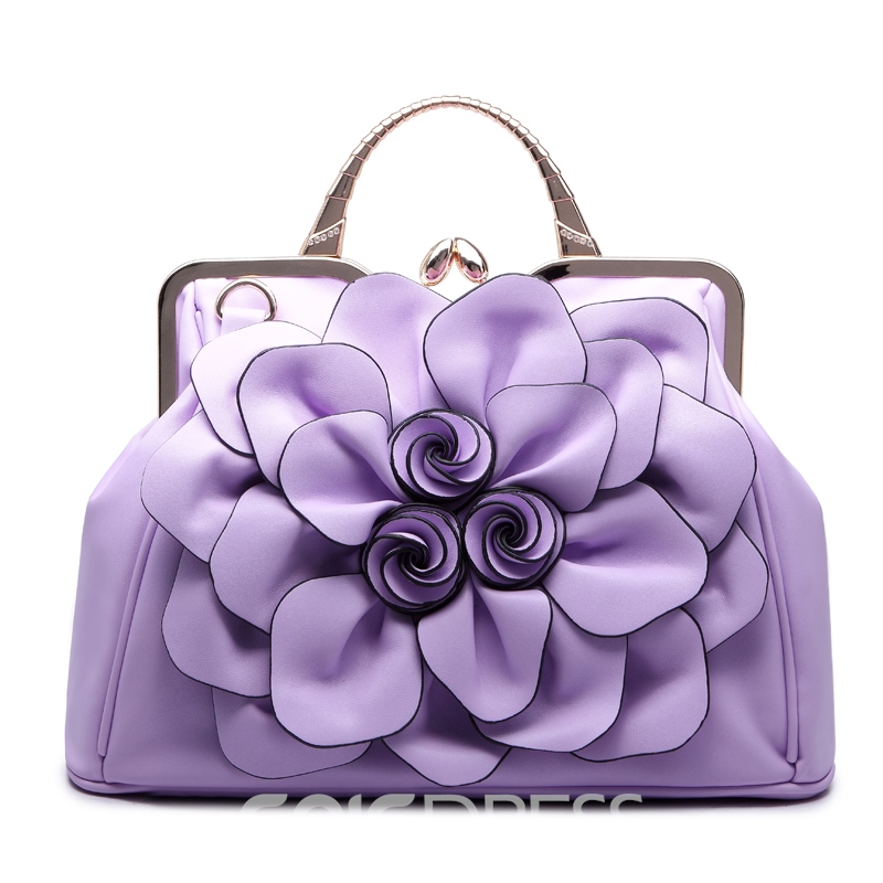 Ericdress All Match Rose Decorated Handbag