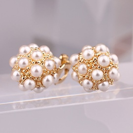 Ericdress Pearls Spherical Ear Clips
