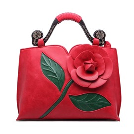 Ericdress Classic Ethnic Stereo Flower Decorated Handbag