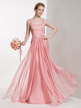 Ericdress Beautiful Straps Sheath Long Bridesmaid Dress