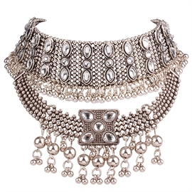 Ericdress Exaggerated Multilayer Beading Necklace