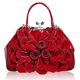 Ericdress OL Diamante Floral Handbag