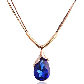 Ericdress Water Drop Shaped Crystal Pendant Necklace