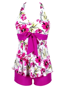 Ericdress Flower Print Halt Swimwear