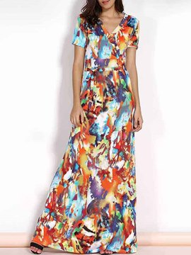 Ericdress Ttropical Print Maxi Dress
