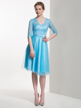 Ericdress Beautiful Knee Length Lace Bridesmaid Dress