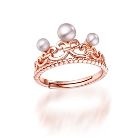 Ericdress Fashion Pearls Inlaid Opening Ring
