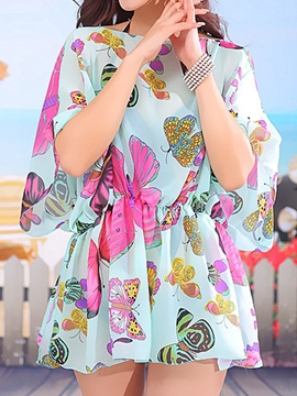 Ericdress Chiffon Print Sun Protected Beach Cover-Up