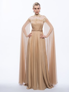 Ericdress High Neck A-Line Long Sleeves Vintage Evening Dress