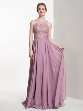 Ericdress Charming Spaghetti Straps A Line Long Bridesmaid Dress