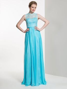 Ericdress Beautiful Jewel Long A line Lace Bridesmaid Dress