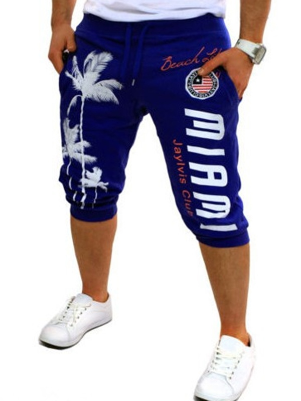 Ericdress Printed Casual Sports Men's Shorts