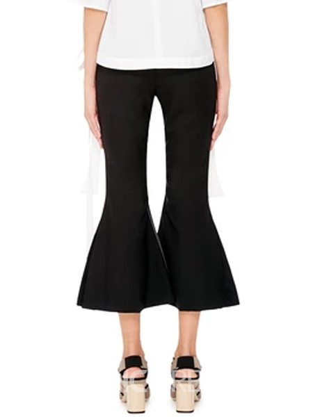 Ericdress Cropped Falbala Slim Bellbottoms Pants