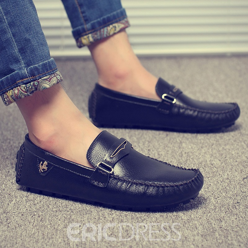 Ericdress Buckle Slip-On Men's Moccasin-Gommino