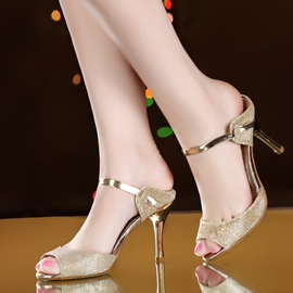 Ericdress Fashion Sequins Peep Toe Stiletto Sandals