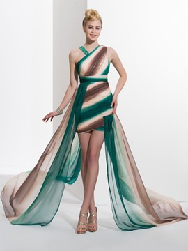 Green evening dress nzz