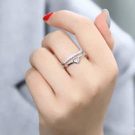 Ericdress Heart Shaped Opening Ring