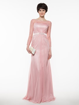 Ericdress Elegant Bateau A Line Long Mother Of The Bride Dress