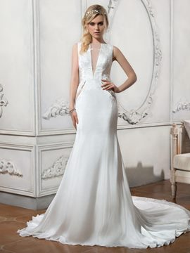 Ericdress Beautiful Mermaid Backless Wedding Dress