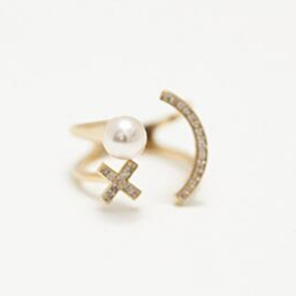 Ericdress Pearl Smiling Face Ring