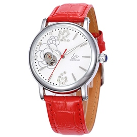 Ericdress Casual Diamante Rose Automatic Mechanical Watch