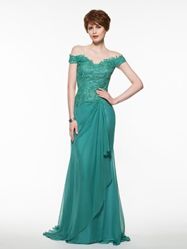 Ericdress elegante Off Schulter Mantel Long Mutter der Brautkleid