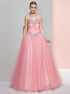 Ericdress A-Line Sweetheart Beading Sequins Floor-Length Prom Dress