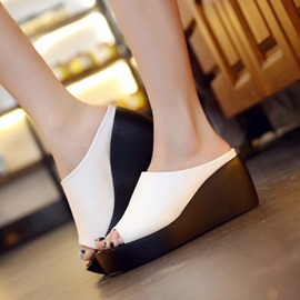 Ericdress Elegant Peep Toe Mules Shoes