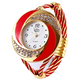 Ericdress Personality Diamante Quartz Watch
