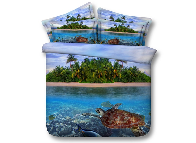 Ericdress Holiday Island Scenery Print 3D Bedding Sets