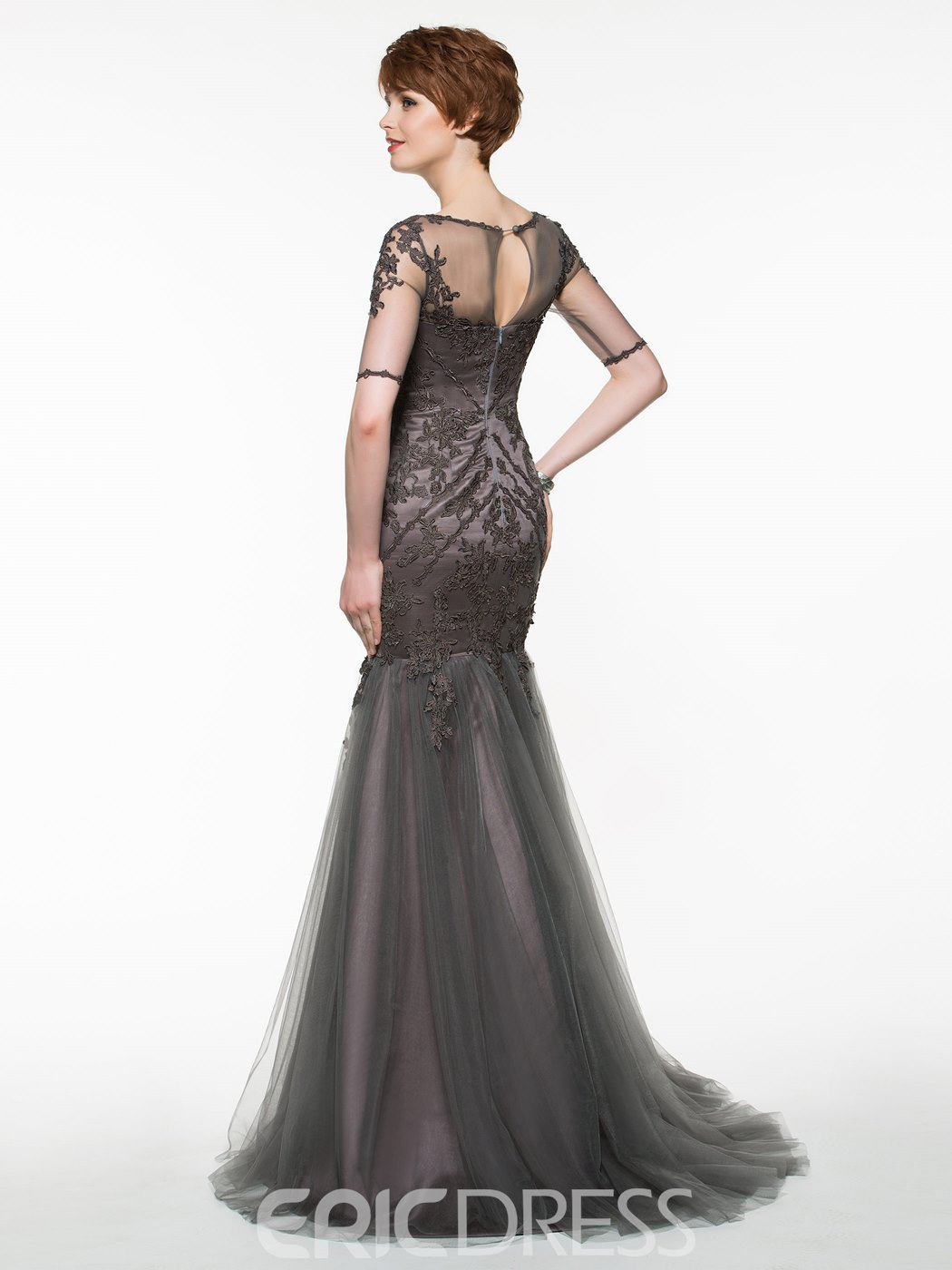 Ericdress Beautiful Long Mermaid Mother Of The Bride Dress With Sleeves