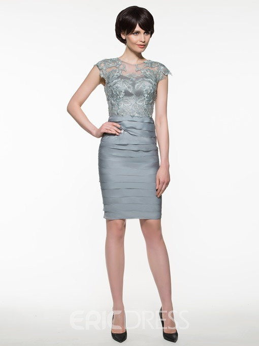 Ericdress Beautiful Sheath Knee Length Mother Of The Bride Dress With Jacket
